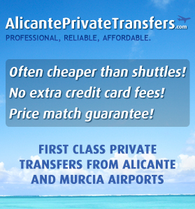 First Class Private Transfers from Alicante and Murcia Airports