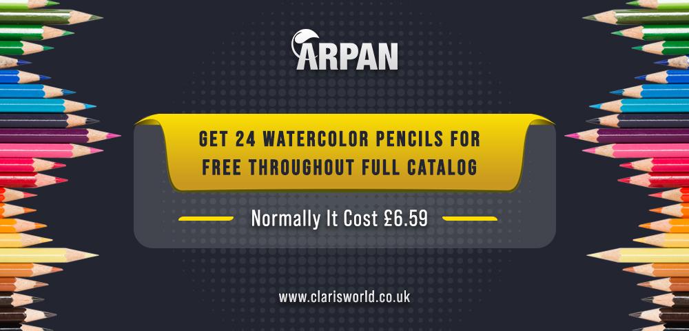 24 watercolour pencils free