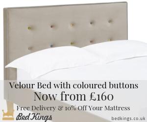 Bed Kings Camden Beige Velour Bed