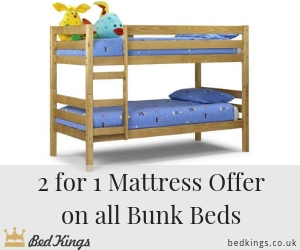 2 for 1 mattress offer on all bunk beds