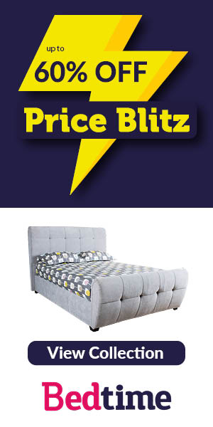 Save up to 60% on a choice of beds, mattresses and bedding with Bedtime Price Blitz