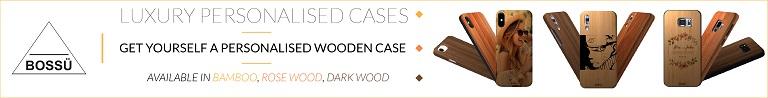 BOSSU personalised luxury case Available in Bamboo,Rose Wood, Dark Wood