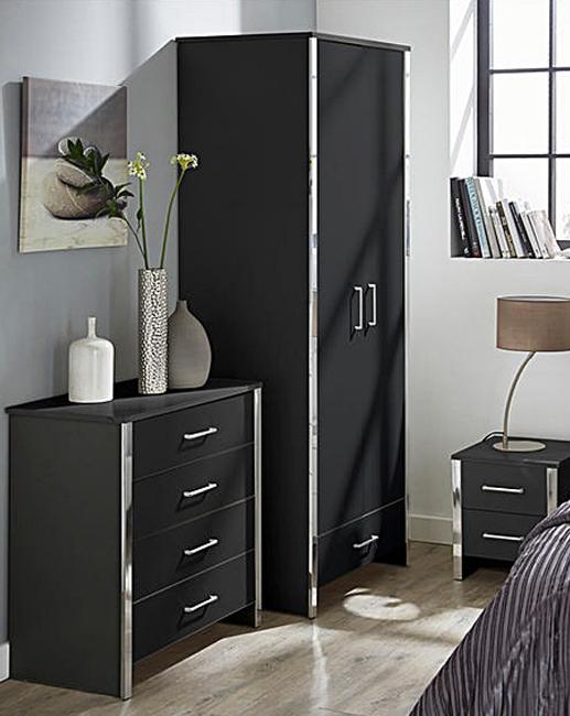 Gosport Black Bedroom Range