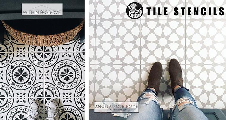 Tile Stencils - Dizzy Duck Designs