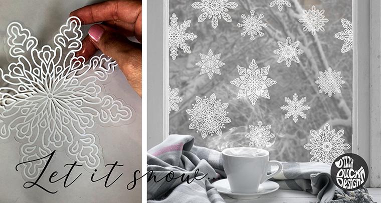 Christmas Window Decals - Dizzy Duck Designs