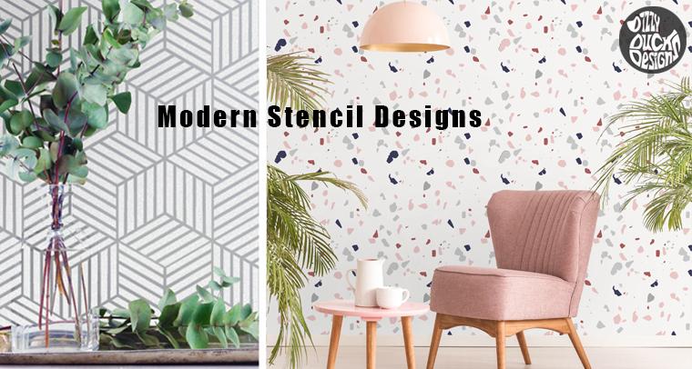 Modern Stencils - Dizzy Duck Designs