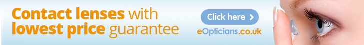 eOpticians - Best e-shop for contact lenses in UK.