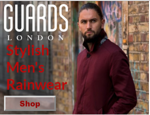 Guards London Stylish Mens Rainwear ad