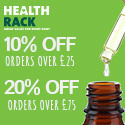 Health Rack - Spend and Save Discounts