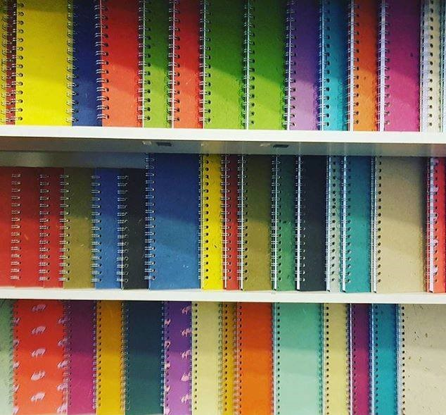 Our amazing bright coloured handmade sketchbooks