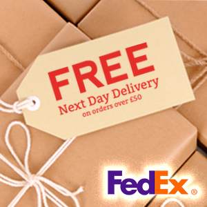Free FedEx next day delivery on orders over £50.00