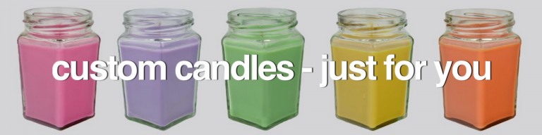 Wickman and Co Soy Candles and Melts - Custom Candles Banner