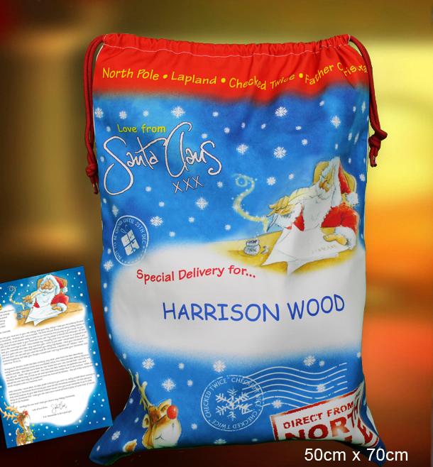 Custom Santa Sack from Santa.co.uk