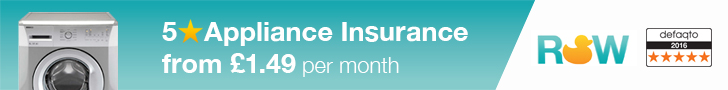 5 Star Defaqto Kitchen Appliances Insurance from £1.49 per month - Tumble Dryer, Oven
