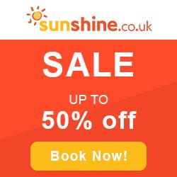 50% Off Sale - Sunshine Holidays