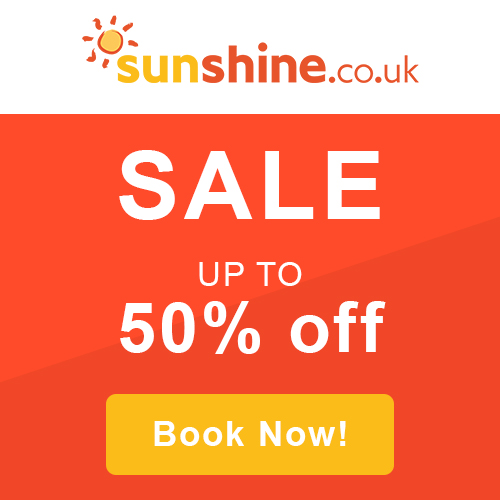 50% Off Sale - Sunshine Holidays