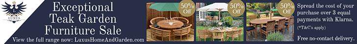 50% off Teak Garden Furniture