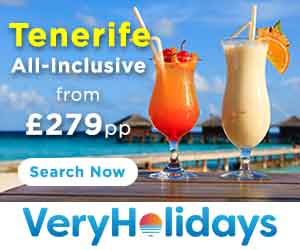 All inclusive holidays to Tenerife from £279 per person
