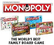 Monopoly board game, family game, family board game